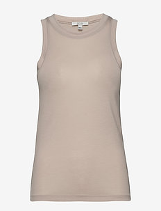 Camelia - sleeveless tops - light grey