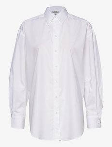 Gina cotton - long-sleeved shirts - white