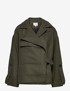 Jaqueline - wool jackets - dark green
