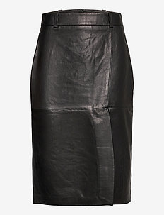 Lauretta leather - midi kjolar - black