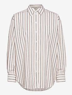 Gina cotton - langærmede skjorter - camel stripe