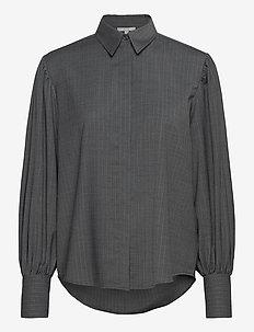 Melisa pinstripe - langermede skjorter - grey pinstripe