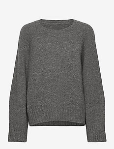 Emily round neck - swetry - grey melange