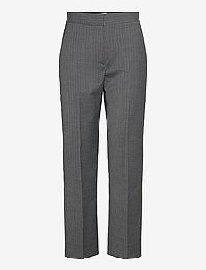 Judith pinstripe - straight leg trousers - grey pinstripe
