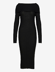 Leana - knitted dresses - black
