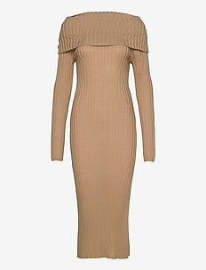 Leana - knitted dresses - camel