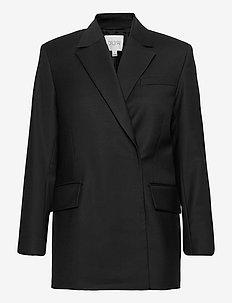 Charlotte wool - oversize-bleiserit - black
