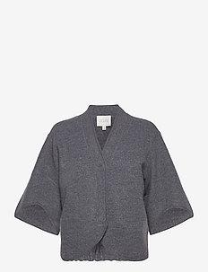Bea - cardigans - grey melange