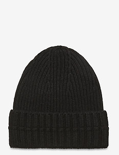 Ribbed beanie - mutsen - black