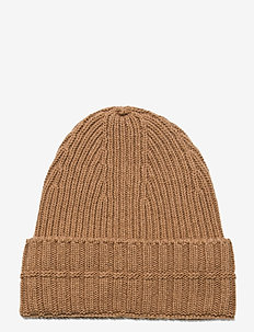 Ribbed beanie - luer - camel