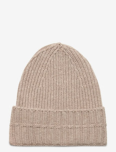 Ribbed beanie - luer - oat