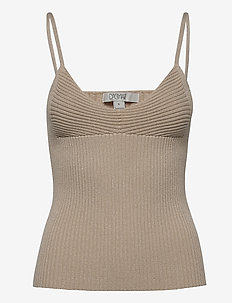 Jennifer - sleeveless tops - beige