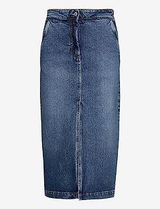 Demi - denim skirts - medium blue