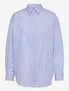 Gina blue stripe - langærmede skjorter - blue stripe