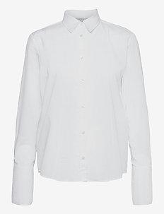 Linda - langærmede skjorter - white