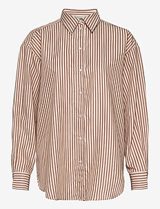 Gina camel stripe - langærmede skjorter - camel stripe