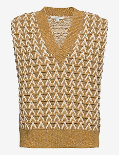 Flora - knitted vests - yellow multi
