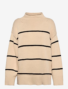Helena cotton - gensere - off white/blue stripe