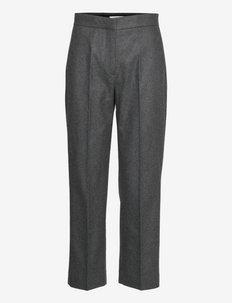 Judith flannel - broeken med straight ben - grey