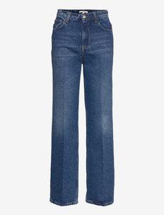 Alba - brede jeans - medium blue