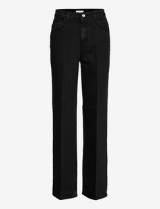 Alba - straight jeans - washed black