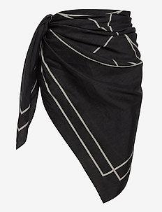 Sarong - strandtøy - black/white print