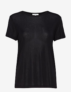 Upama rib top - t-shirts - black