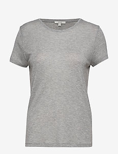 Upama rib top - t-shirts - light grey melange