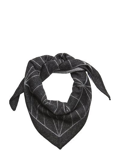 Grid scarf - GREY MELANGE