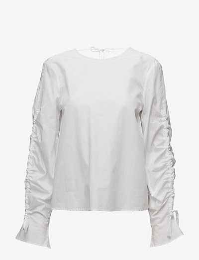 Mara - langærmede bluser - white