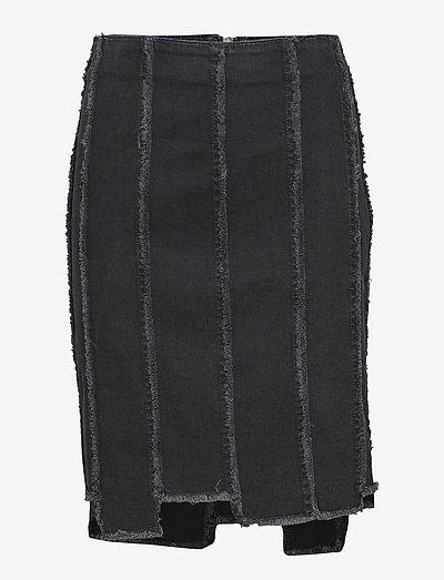 Liva denim - denimnederdele - washed black