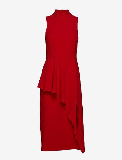 Zonja - midi jurken - lipstick