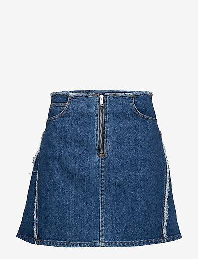 Fiona - korte nederdele - washed denim
