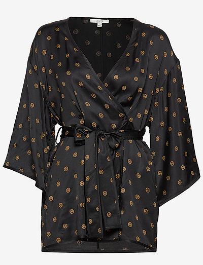 Alanis - kimonoer - black print