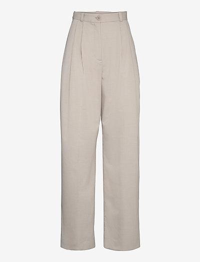 Valentina - uitlopende broeken - light grey