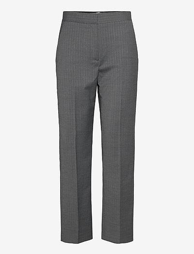 Judith pinstripe - broeken med straight ben - grey pinstripe