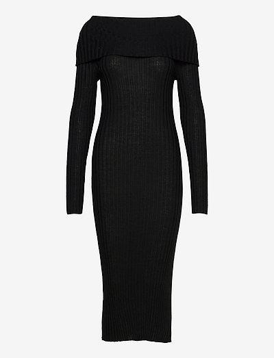 Leana - bodycon jurken - black