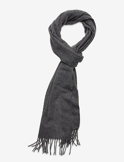 Wool scarf - sjaals - grey melange