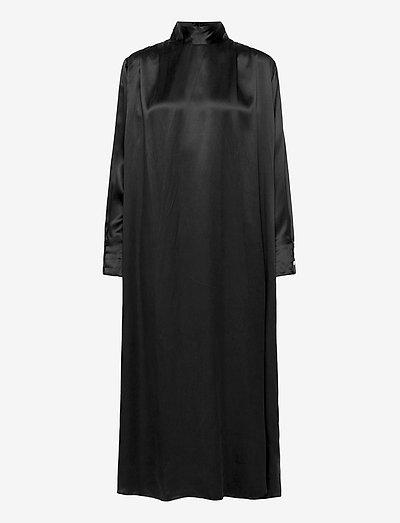 Sara silk - avondjurken - washed black