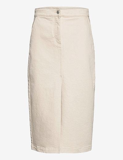 Demi - denim skirts - ecru