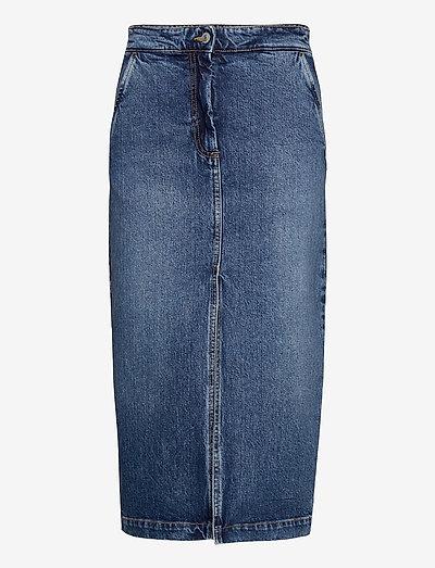 Demi - midi nederdele - medium blue