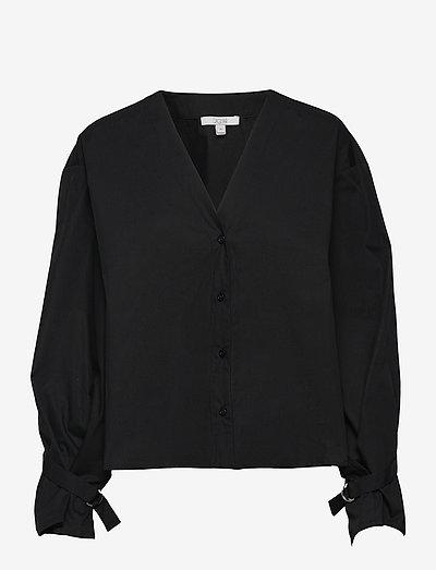 Marcel cotton - long sleeved blouses - black