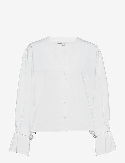 Marcel cotton - langærmede bluser - white