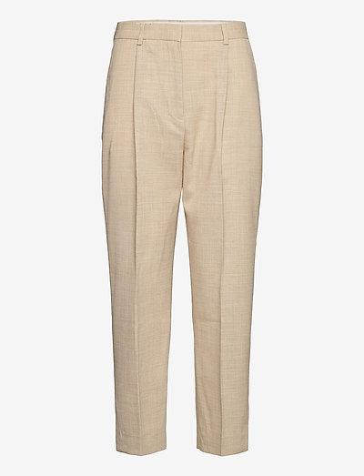 Leanne - bukser med lige ben - wheat melange
