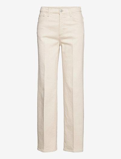 Alba - straight jeans - ecru