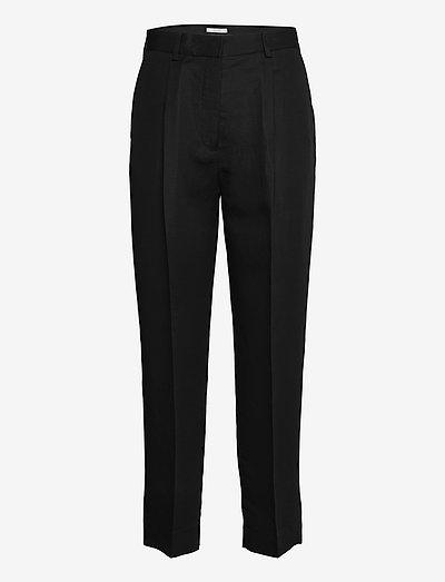 Leanne tencel - bukser med lige ben - black