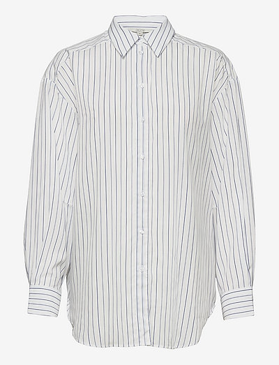 Gina - denimskjorter - thin blue stripe
