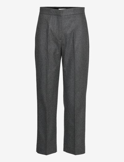 Judith flannel - bukser med lige ben - grey