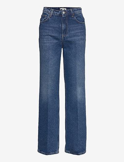 Alba - wide leg jeans - medium blue