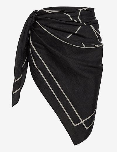 Sarong - strandtøj - black/white print